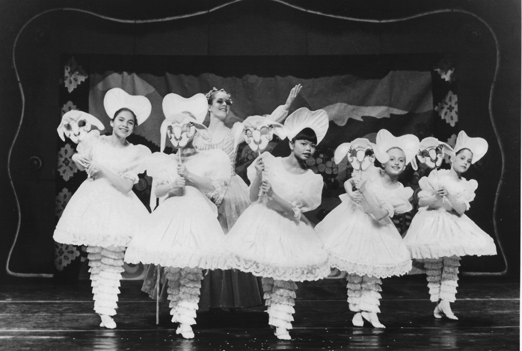 Me all the way on the right—performing in the Nutcracker ballet around age 10.